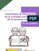 Cuestionario de observación de la actividad comunicativa de las personas mayores
