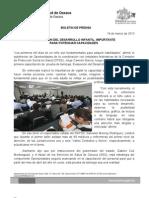 19/03/13 Germán Tenorio Vasconcelos EVALUACIÓN DEL DESARROLLO INFANTIL, IMPORTANTE PARA POTENCIAR CAPACIDADES