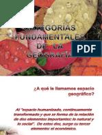 CATEGORÍAS FUNDAMENTALES DE LA GEOGRAFÍA