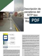 Descripción de paraderos del SITP tipo bandera Para Bogotá D.C.
