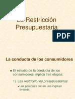 Restriccion Presupuestaria