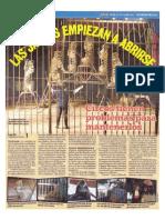 Las Jaulas Empiezan a Abrirse. Nuestro Diario. Jueves 16 Agosto 2012.