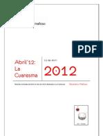 Recetario Mañoso - 04 - La Cuaresma (Abr 2012)