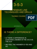 3-5-3 DEFENSIVE LINE TECHNIQUES AND DRILLS THOMAS COUSINS