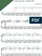 AMAZING SHORT Sheet Music Score Piano Yann Tiersen Comptine Dun Autre Ete Amelie Poulain