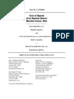 McQueen v. Cincinnati, Appellees' (Plaintiffs')  Brief
