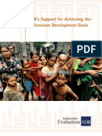 ADB's Support for Achieving the Millennium Development Goals