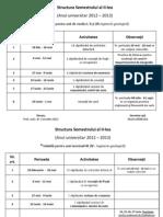 Structura Semestrului Al II-Lea 2012-2013