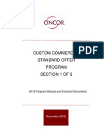 Oncor - Custom Commercial Standard Offer Program