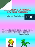 LA ENERGÍA Y LA PRIMERA LEY PARA SISTEMAS