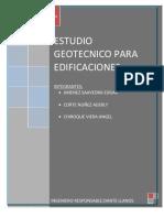 Estudios geotécnicos para edificaciones
