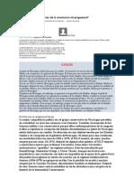 Causas y Consecuencias de La Revolucion Nicaraguense