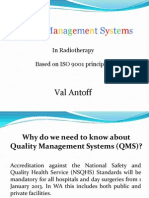 Quality Management Systems in Radiotherapy based on ISO 9001 standard