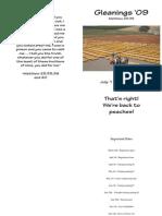 Gleanings Regbook 2009 4.1.09