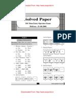 SSC DEO General Intelligence Solved Paper Held on 31.08.2008 Wwww.sscportal.in