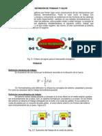 DEFINICIÓN DE TRABAJO Y CALOR