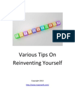 Reinvent Your Life By Knowing Some Of The Self Improvement Strategies