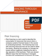 Risk Financing Through Insurance