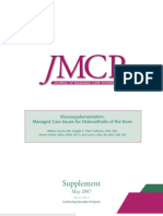 Viscosupplementation- Managed Care Issues for Osteoarthritis of the Knee