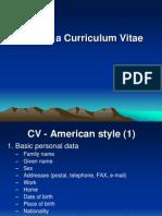 Writing a Curriculum Vitae