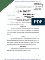 Thompson v. the Florida Bar, 1.09-Cv-20327, Complaint