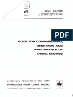 Guide for Commissioning, Operation and Maintenance of Diesel Engine spln 24_1980