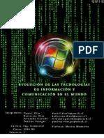 Evolución de las tecnologías de Información y Comunicación en el mundo