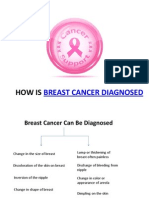 How is Breast Cancer Diagonised