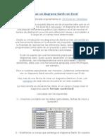 Construir Un Diagrama Gantt Con Excel