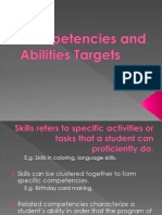 Skills, Competencies and Abilities Targets