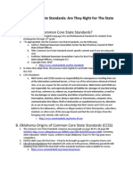 Common Core State Standards; Are They Right for Oklahoma