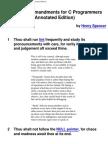 Ten Commandments for C Programmers