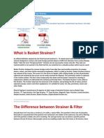 Basket Type Strainer