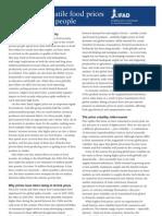 IFAD Price Volatility