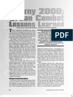 Grozny 2000 - Urban Combat Lessons Learned