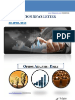 Daily Option News Letter 30april2013