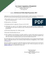 Post Doctoral Fellowsip2013