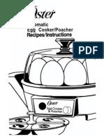 Oster Egg Cooker Manual