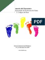 """Memoria Del Encuentro """"Políticas Institucionales de Protección de Niñez y Códigos de Ética"""""""