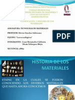 Historia de Los Materiales