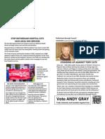 Rawmarsh Election Leaflet Front