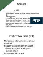 PK - Sampel Pemeriksaan Faal Koagulasi [Dr. Rini Riyanti, Sp.pk]