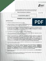 TEST EXAMEN PROFESOR DE FORMACIÓN VIAL - PRIMERA EVALUACIÓN - CUESTIONARIO C (25.04.2013)