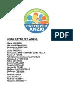 Liste e candidati