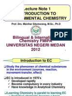 Lecture 1 Introduction to Environmental Chem 2012