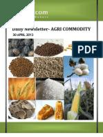 Agri Ncdex Report30 Apri 2013