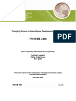 Case of IndiaEmerging Donors in International Development Assistance: The India Case
