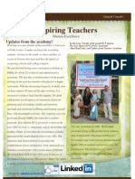 Inspiring Teachers Newsletter - May 2013