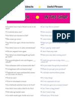 Shop words in Ireland