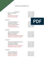 Daftar Kelompok KKSI Kelas B